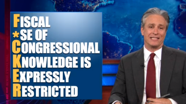 Jon Stewart Puts His Profane Golden Touch on Dirty Congress Deals