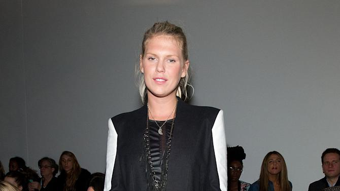 Alexandra Richards attends the Fall 2013 Helmut Lang Runway Show on Friday, Feb., 8, 2013 during Fashion Week in New York. (Photo by Dario Cantatore/Invision/AP)