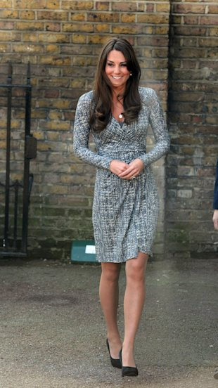 Kate Middleton Shows Of Her Bump In A MaxMara Studio Line Wrap Dress