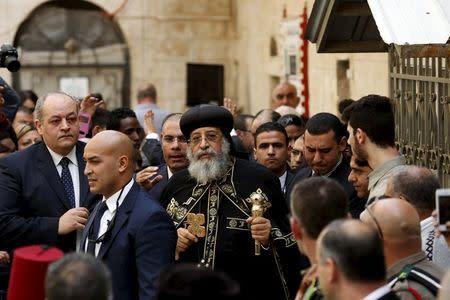 Egyptian Coptic Pope makes rare Jerusalem visit