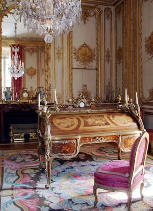 This undated photo provided Tuesday, Jan. 10, 2012 by the Chateau de Versailles shows desk that belonged to France's 18th century King Louis XV . For 67 years, a message from Nazi-occupied France remained hidden in a secret drawer of the desk. The letter, released Tuesday by the Chateau of Versailles, details restoration work on the desk during the war. The restorer says he wrote the note as he finished the work _ and just as Paris was being liberated from the Nazis in 1944. (AP Photo/Christian Milet; Chateau de Versailles) NO SALES
