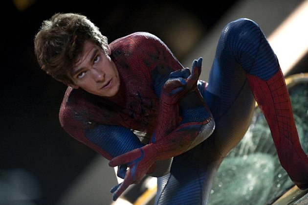 In this film image released by Sony Pictures, Andrew Garfield is shown in a scene from &quot;The Amazing Spider-Man, set for release on July 3, 2012. &quot;The Amazing Spider-Man&quot; pulled in $7.5 million from its debut screenings just after midnight Tuesday, July 3. (AP Photo/Columbia - Sony Pictures, Jaimie Trueblood)