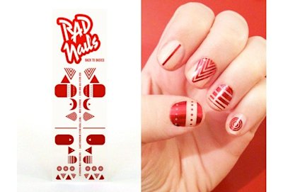 "Rad nails ""foil back to basics"""