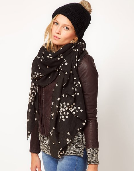 ASOS star print scarf, $17.59 at ASOS.com