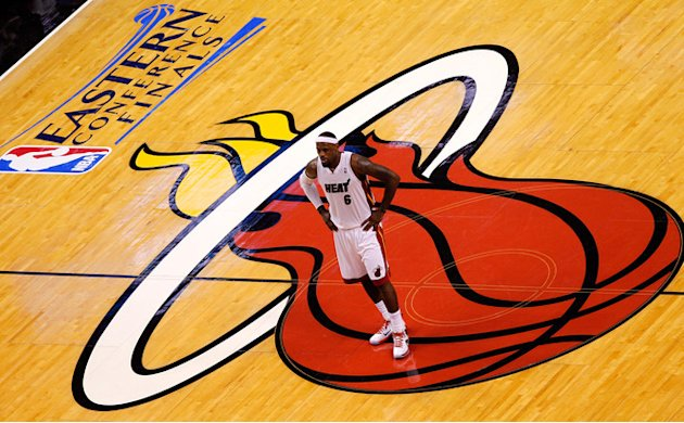 LeBron James #6 Of The Miami Heat Looks Getty Images