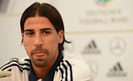 Sami Khedira, pictured at a press conference in Frankfurt on Tuesday, gave his backing to under-fire head coach Joachim Loew, insisting that he had the players&#39; complete support despite a backlash against his tactics following their 2-1 Euro 2012 semi-final defeat to Italy