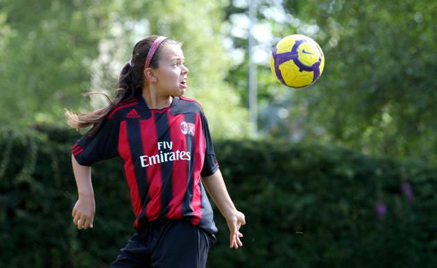 AC Milan headhunt 10-year-old British girl