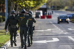 Merced County Sheriff SWAT members enter the University …