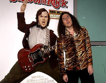 """Weird Al"" Yankovic at the LA premiere of Paramount's The School of Rock"