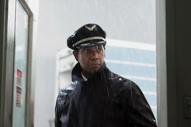 FILE - This film image released by Paramount Pictures shows Denzel Washington portraying Whip Whitaker in a scene from &quot;Flight.&quot; &quot;Flight,&quot; &quot;Django Unchained,&quot; &quot;Beasts of the Southern Wild,&quot; &quot;Red Tails&quot; and &quot;Tyler Perry&#39;s Good Deeds&quot; are up for the outstanding motion picture trophy at the 44th annual NAACP Image Awards. (AP Photo/Paramount Pictures, Robert Zuckerman, File)