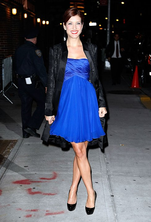 "Kate Walsh visits ""Late Show With David Letterman"" at the Ed Sullivan Theater on November 11, 2009 in New York City."