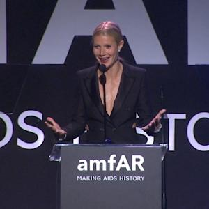 Gwyneth Paltrow Gushes Over Chris Martin at amfAR Gala