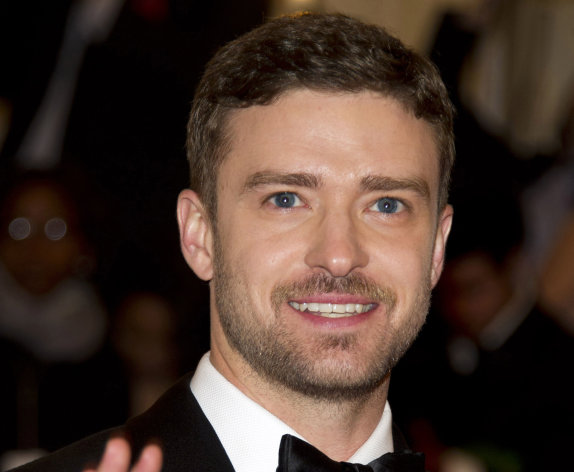 FILE - This May 7, 2012 file photo shows singer-actor Justin Timberlake at the Metropolitan Museum of Art Costume Institute gala benefit in New York. (AP Photo/Charles Sykes, file)