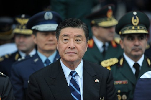 File photo of Taiwan's Defence Minister Kao Hua-chu, pictured during his recent visit to Paraguay, on July 9, 2013