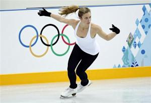 Wagner of the U.S. skates during a figure skating training sesssion in preparation for the 2014 Sochi Winter Olympics