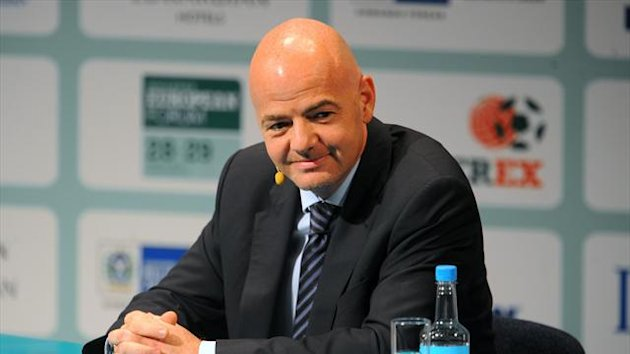 Gianni Infantino confirmed that UEFA is to double its minimum sanction to 10 games for players found guilty of racism