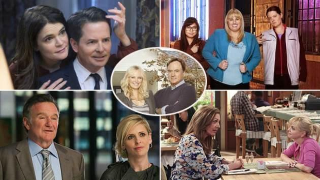 5 new Fall 2013 comedies: 'The Michael J. Fox Show,' 'Super Fun Night,' 'The Crazy Ones,' 'Mom' and 'Trophy Wife' (center) -- NBC