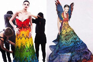 The gummy bear dress and the Alexander McQueen inspiration