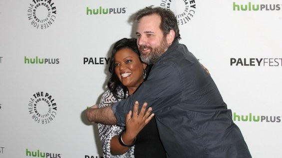 'Community' star Yvette Nicole Brown with creator Dan Harmon at PaleyFest