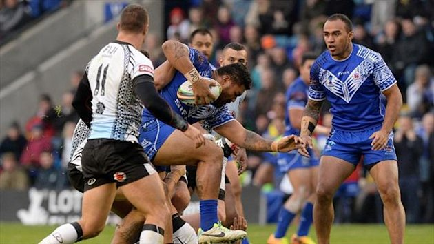 St Helens' new recruit Mose Masoe, in World Cup action for Samoa, is expected to trample over Super League opponents in 2014.