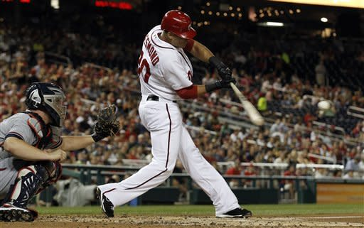 Tracy's single in 13th lifts Nats over Braves 5-4
