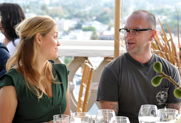 From Left, Thomas Dunkin and Erika Christiansen are seen at the The Hollywood Reporter's Beauty Luncheon held at the Chateau Marmont on Wednesday Nov. 14, 2012 in Los Angeles. (Photo by John Shearer/I