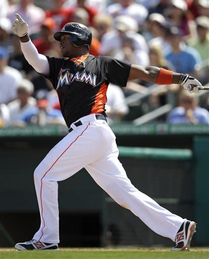 Zambrano strikes out 5 in Marlins' tie with Braves