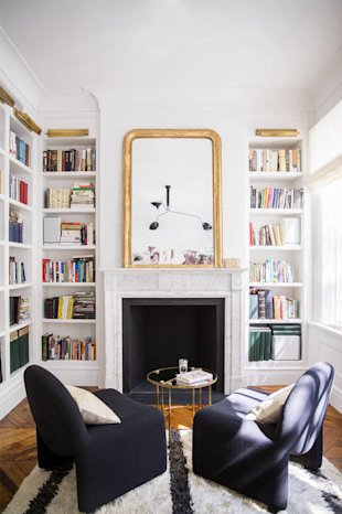 Use a Mirror Above a Fireplace