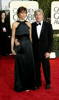 Carey Lowell, Richard Gere Golden Globes - 1/25/2004
