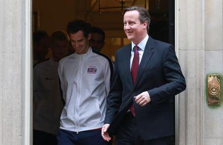 Prime Minister David Cameron welcomes members of the successful Great Britain Davis Cup Team to Number 10 Downing Street