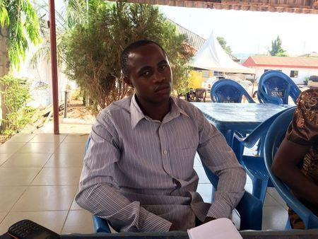 Ikedi, state coordinator in Enugu for IPOB, is seen during an exclusive interview with Reuters in Enugu State, Nigeria