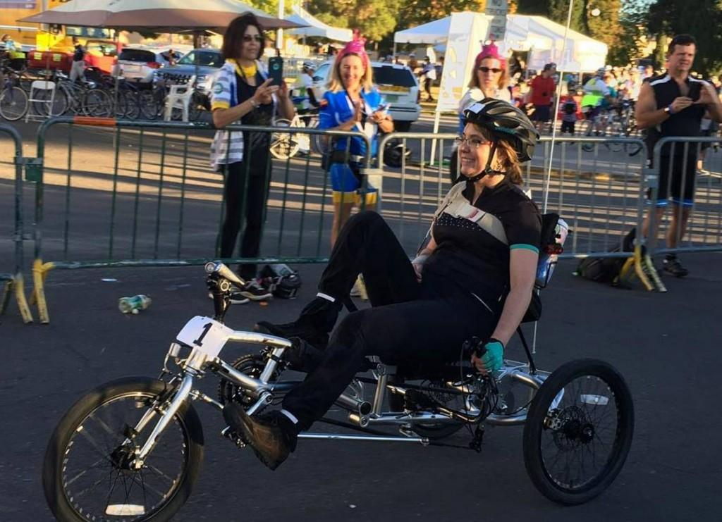 Gabby Giffords continues road to recovery with bike tour