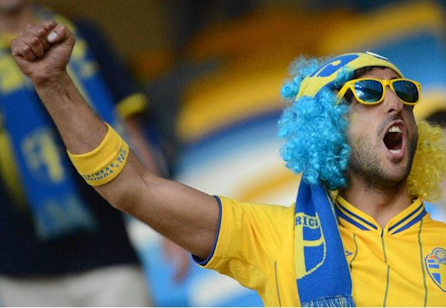 Swedish Fans AFP/Getty Images