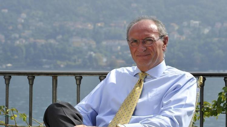 Unicredit bank CEO Ghizzoni is pictured during an interview at the Ambrosetti workshop in Cernobbio, next to Como