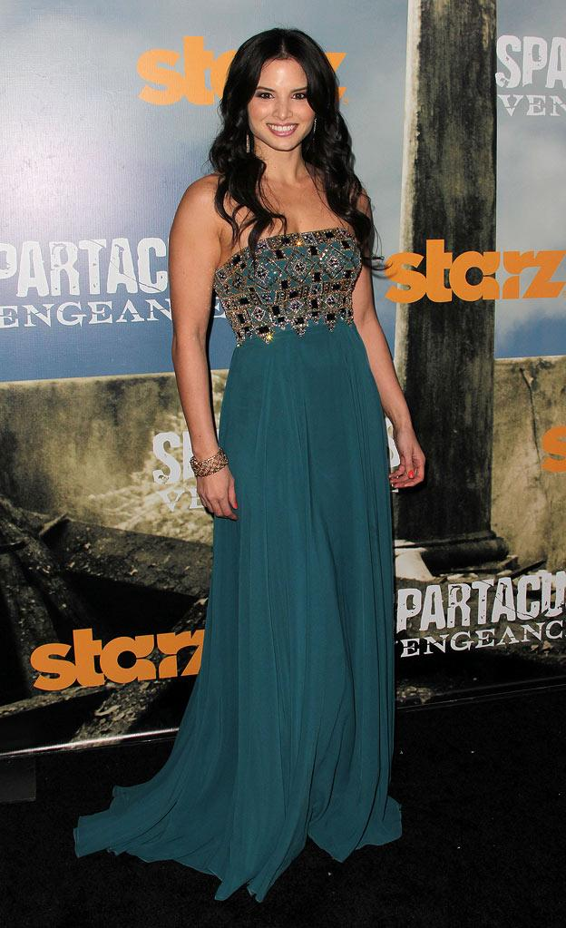 "Katrina Law attends the Starz Original Series ""Spartacus: Vengeance"" Premiere Event at ArcLight Cinemas Cinerama Dome on January 18, 2012 in Hollywood, California."