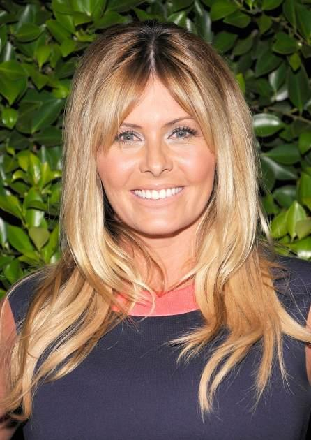 Nicole Eggert arrives at the 'Baywatch' Reunion Dinner at the XIV restaurant on August 19, 2010 in Los Angeles -- Getty Premium