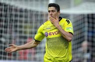 Er war zweifellos ein Mann des Abends: Dortmunds Strmer Robert Lewandowski steuerte zum 5:2-Sieg ber die Bayern drei Treffer bei
