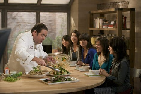 "Emeril Lagasse and guests on ""Emeril's Table."""