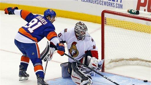 Islanders beat Senators 3-2 in shootout