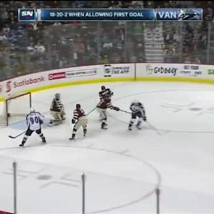 Eddie Lack Save on Zach Redmond (03:50/2nd)