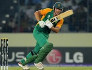 South African captain Graeme Smith plays a shot during the quarter-final match of the ICC World Cup 2011 against New Zealand at the Sher-e-Bangla stadium in Dhaka 2011. South Africa&#39;s convenor of selectors Andrew Hudson has labelled as &quot;awesome&quot; the team that will tackle England in a mid-year three-Test cricket series