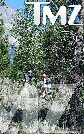 PIC: Sandra Bullock, Ryan Reynolds, Baby Louis Go Hiking in Wyoming