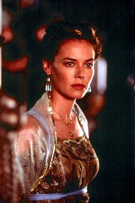 Lucilla ( Connie Nielsen ) fears the corrupt power of her brother, the emperor, in Dreamworks' Gladiator