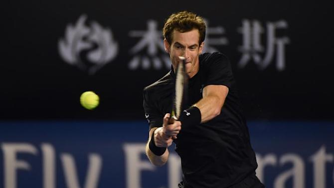 Andy Murray during his Australian Open match against Grigor Dimitrov in Melbourne on January 25, 2015