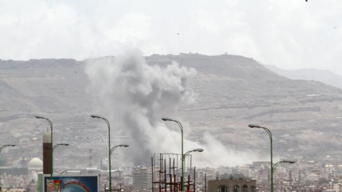 Air strikes hit military site in Yemen's capital Sanaa