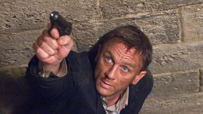 """FILE - In this undated film publicity image released by Sony Pictures, Daniel Craig portrays James Bond in a scene from  """"Quantum of Solace"""". (AP Photo/Sony, file)"""