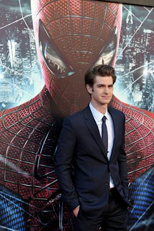 """Andrew Garfield attends the world premiere of """"The Amazing Spider-Man"""" at the Regency Village Theatre on Thursday, June 28, 2012 in Los Angeles. (Photo by John Shearer/Invision/AP)"""
