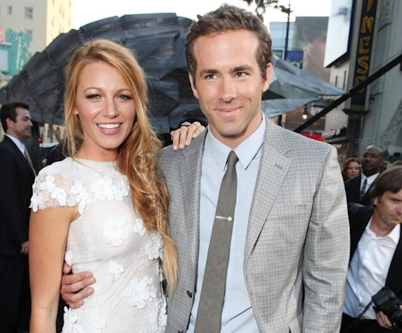 Blake Lively and Ryan Reynolds at Warner Bros. premiere of &#39;Green Lantern&#39; at Grauman&#39;s Chinese Theatre in Hollywood, Calif. on June 15, 2011 -- Getty Images