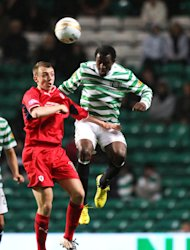 Efe Ambrose, right, in action against Raith Rovers
