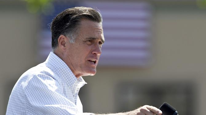 Republican presidential candidate, former Massachusetts Gov. Mitt Romney speaks during a campaign stop in Council Bluffs, Iowa, Friday, June 8, 2012. (AP Photo/Nati Harnik)